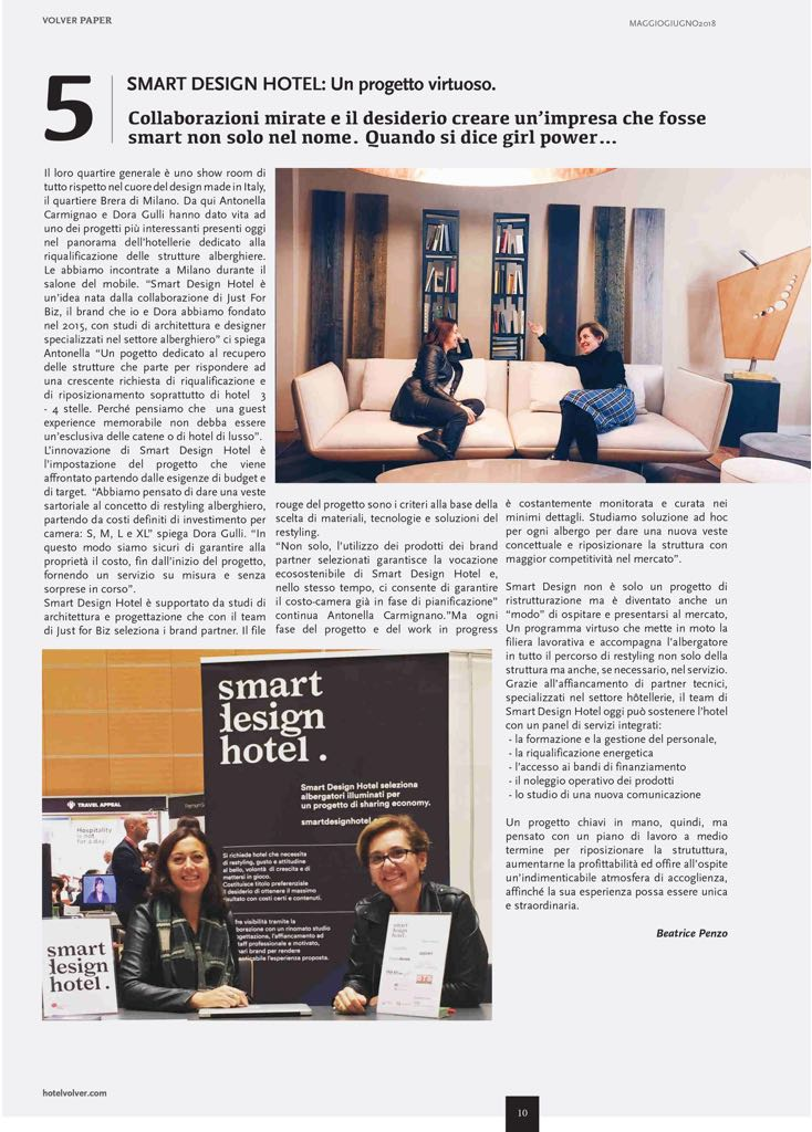 Smart Design Hotel - Articolo HV